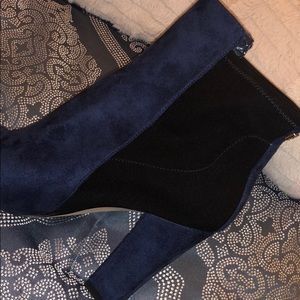 Ivanka Trump Shoes - Blue suede boots